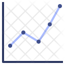 Correlation Connected Scatter Icon