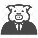 Piggy Pig Greedy Icon