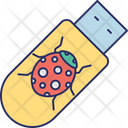 Corrupted Stick Infected Flash Drive Infected Memory Stick Icon