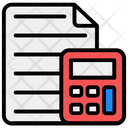 Cost Estimation Tax Calculations Mathematics Icon