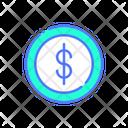 Cost Per Click Cost Dollar Coin Icon