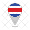 Costa Rica Country Flag Icon
