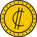 Costa Rica Colon Coin Money Icon