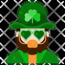 Costume Leprechaun Mask Icon