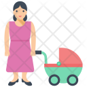 Cot Baby Icon