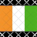 Flag Country Ivory Coast Icon