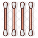 Cotton Buds Cleanning Tool Equipment Icon