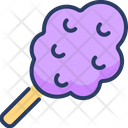 Cotton Candy Sugar Dessert Icon