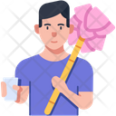 Cotton Candy Seller Icon