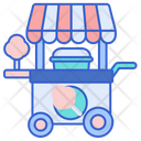 Cotton Candy Stall Icon