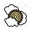 Smoking Wood Trunk Icon