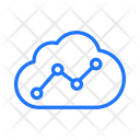 Cloud Analytics Graph Icon