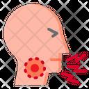 Cough Breath Coronavirus Icon