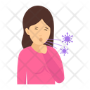Cough Fever Coughing Attack Icon