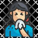 Cough Sneeze Handkerchief Icon