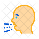 Character Man Sneezing Icon