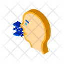 Character Sneeze Cough Icon