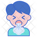 Coughing Vomiting Asthma Icon