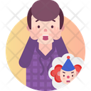 Coulrophobia Fear Of Clowns Icon