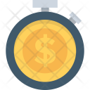Time Stopwatch Dollar Icon
