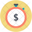 Countdown Dollar Symbol Icon