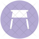 Counter Stool Furniture Icon