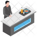 Counter Receptionist Icon