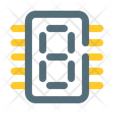 Counter seven segment digital Icon