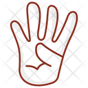 Four Fingers Counting Counting Sign Hand Gesture Icon