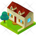 Country Home Isometric Icon
