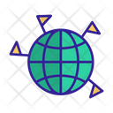 World Contour Silhouette Icon