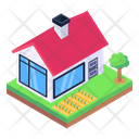 Farmhouse Country House Home Icon