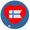 Romantic Finland Heart Icon