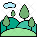 Countryside View Green Icon