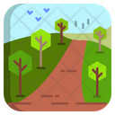 Countryside Landscape Forest Icon