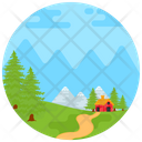 Countryside Farmhouse Hut Nature Icon