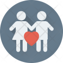 Couple Lovers Heart Icon