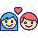 Couple Lovers Family Icon