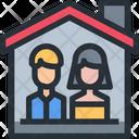 Couple Couple Home Home Icon