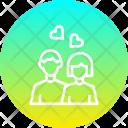 Couple Romantic Heart Icon