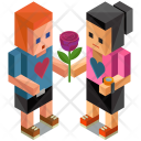 Couple Love Gesture Icon