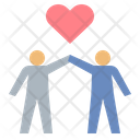 Couple Heart Lovers Icon
