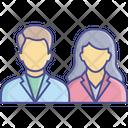 Couple Business Employee Icon