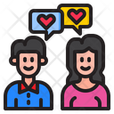 Couple Message Valentine Icon