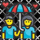 Couple Umbrella Heart Icon