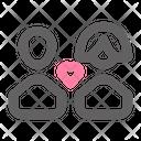 Couple Valentine Romance Icon