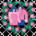 Couple Flower Love Icon