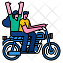 Couple Bike Ride Icon