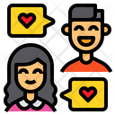 Couple Chat Message Talk Icon