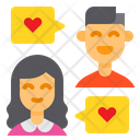 Couple Chat Icon